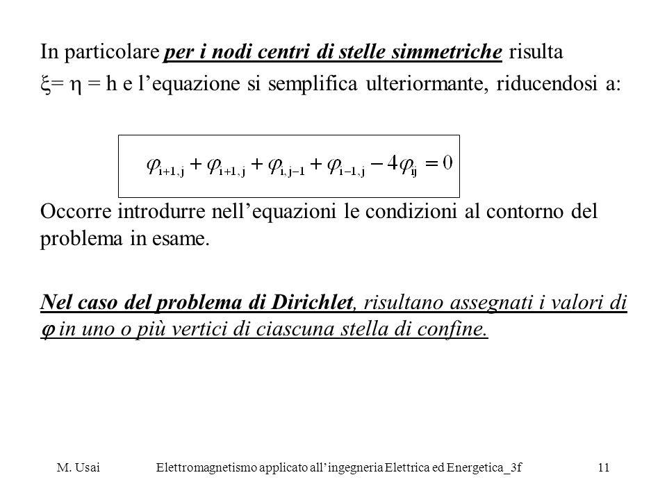 M. UsaiElettromagnetismo applicato allingegneria Elettrica ed Energetica_3f11 In particolare per i nodi centri di stelle simmetriche risulta = = h e l