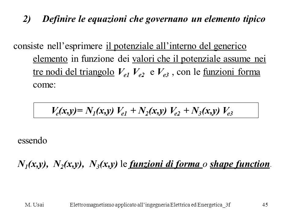 M. UsaiElettromagnetismo applicato allingegneria Elettrica ed Energetica_3f45 2)Definire le equazioni che governano un elemento tipico consiste nelles