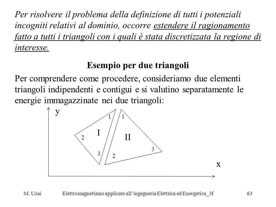 M. UsaiElettromagnetismo applicato allingegneria Elettrica ed Energetica_3f63 Per risolvere il problema della definizione di tutti i potenziali incogn