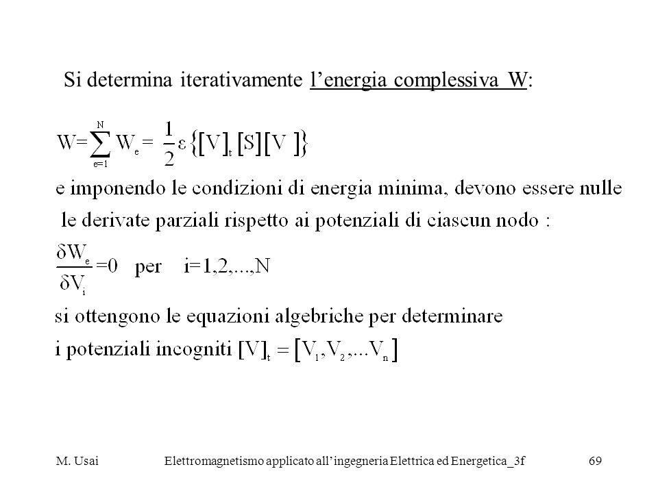 M. UsaiElettromagnetismo applicato allingegneria Elettrica ed Energetica_3f69 Si determina iterativamente lenergia complessiva W: