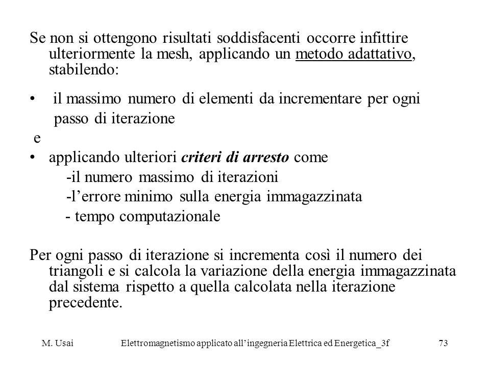 M. UsaiElettromagnetismo applicato allingegneria Elettrica ed Energetica_3f73 Se non si ottengono risultati soddisfacenti occorre infittire ulteriorme