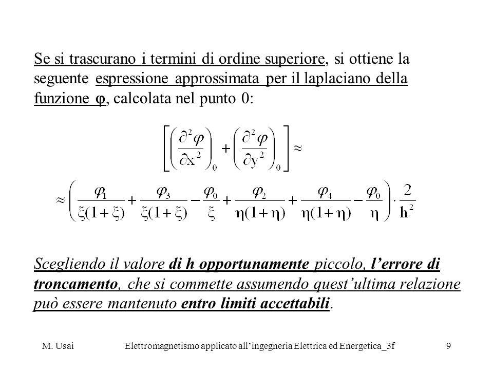 M. UsaiElettromagnetismo applicato allingegneria Elettrica ed Energetica_3f9 Se si trascurano i termini di ordine superiore, si ottiene la seguente es