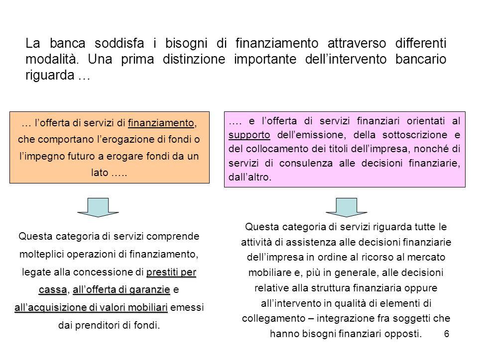 7 I prestiti bancari e lefficienza allocativa