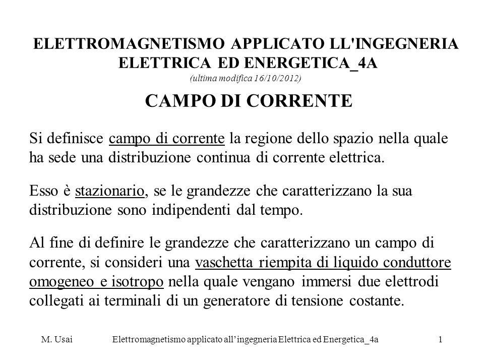 M. UsaiElettromagnetismo applicato allingegneria Elettrica ed Energetica_4a1 ELETTROMAGNETISMO APPLICATO LL'INGEGNERIA ELETTRICA ED ENERGETICA_4A (ult