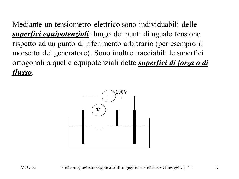 M. UsaiElettromagnetismo applicato allingegneria Elettrica ed Energetica_4a2 Mediante un tensiometro elettrico sono individuabili delle superfici equi
