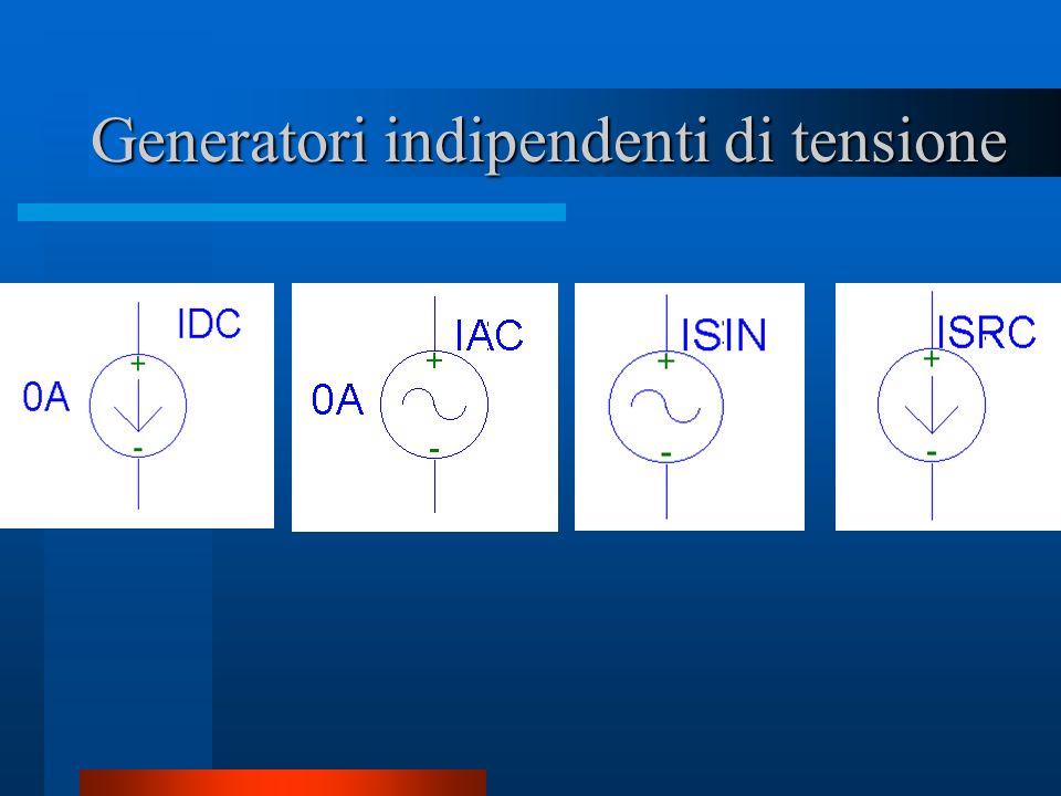 Generatori indipendenti di tensione