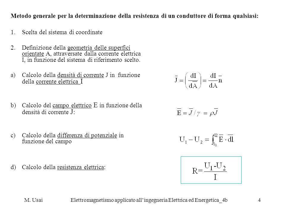 M. UsaiElettromagnetismo applicato allingegneria Elettrica ed Energetica_4b4 1.Scelta del sistema di coordinate 2.Definizione della geometria delle su