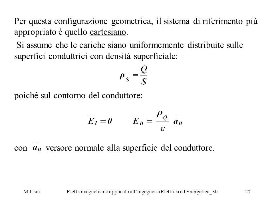 M.UsaiElettromagnetismo applicato allingegneria Elettrica ed Energetica_3b27 Per questa configurazione geometrica, il sistema di riferimento più appro