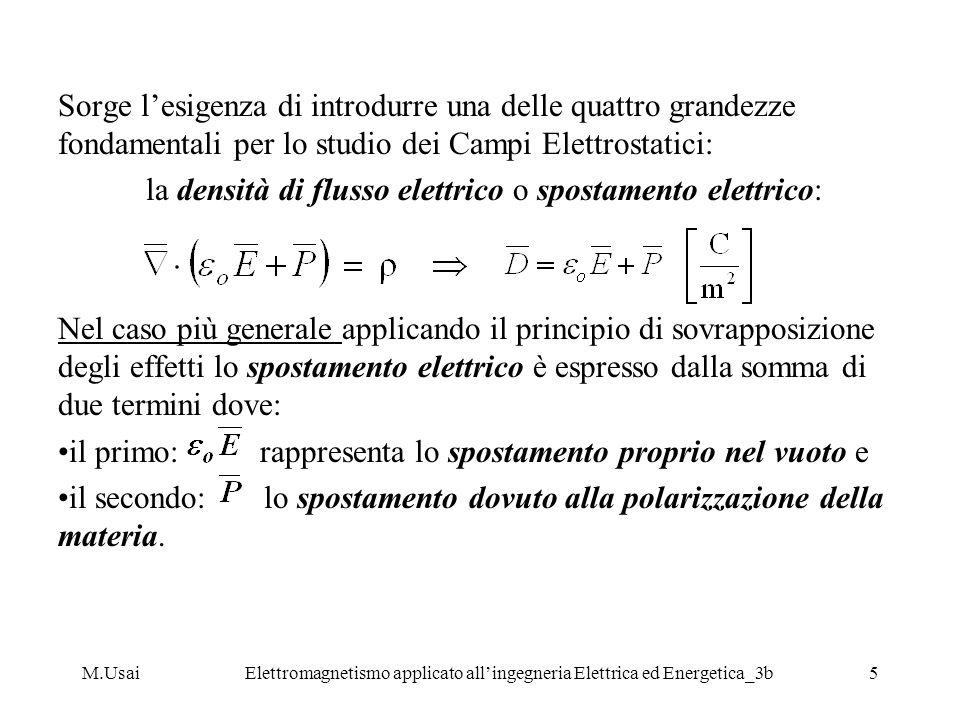 M.UsaiElettromagnetismo applicato allingegneria Elettrica ed Energetica_3b5 Sorge lesigenza di introdurre una delle quattro grandezze fondamentali per
