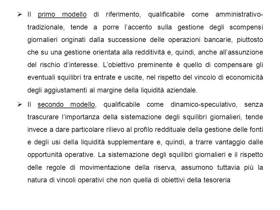 Il primo modello di riferimento, qualificabile come amministrativo- tradizionale, tende a porre laccento sulla gestione degli scompensi giornalieri or