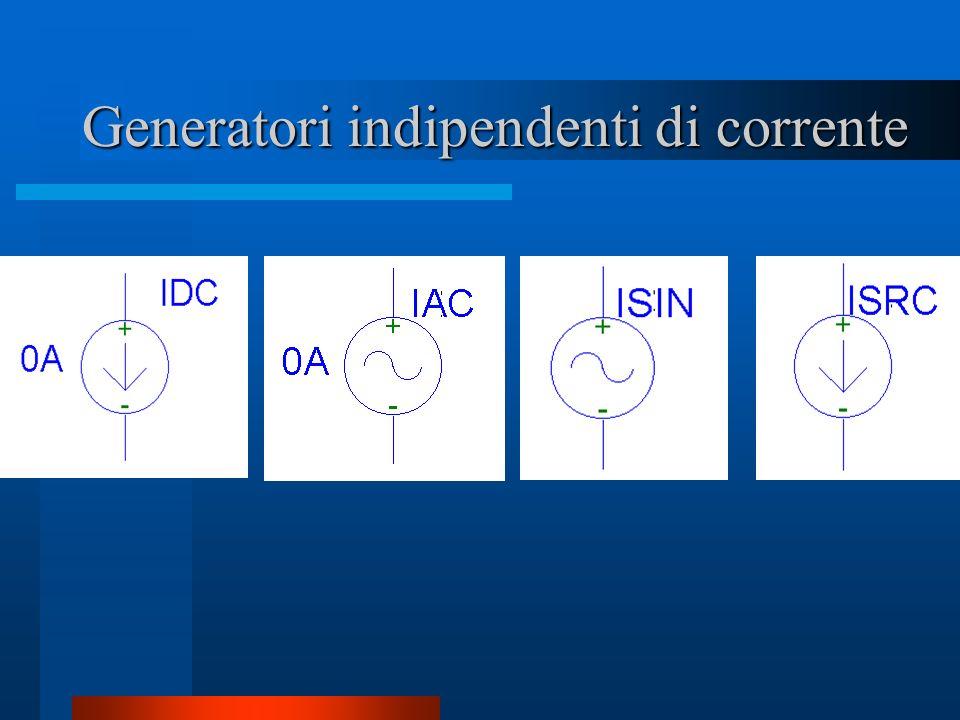 Generatori indipendenti di corrente