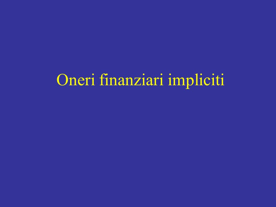 Oneri finanziari impliciti