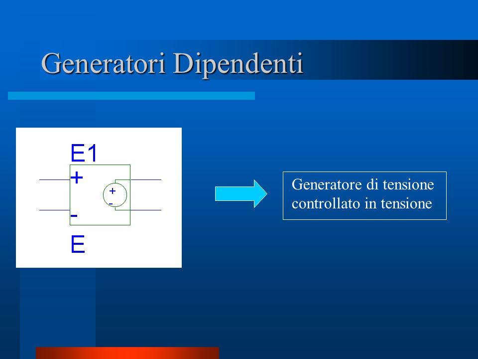 Generatori Dipendenti Generatore di tensione controllato in tensione