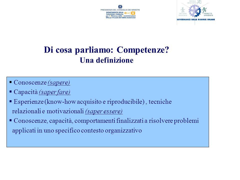 Di cosa parliamo: Competenze.
