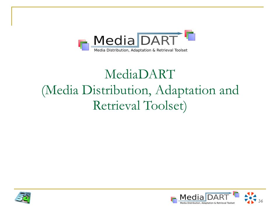 36 MediaDART (Media Distribution, Adaptation and Retrieval Toolset)