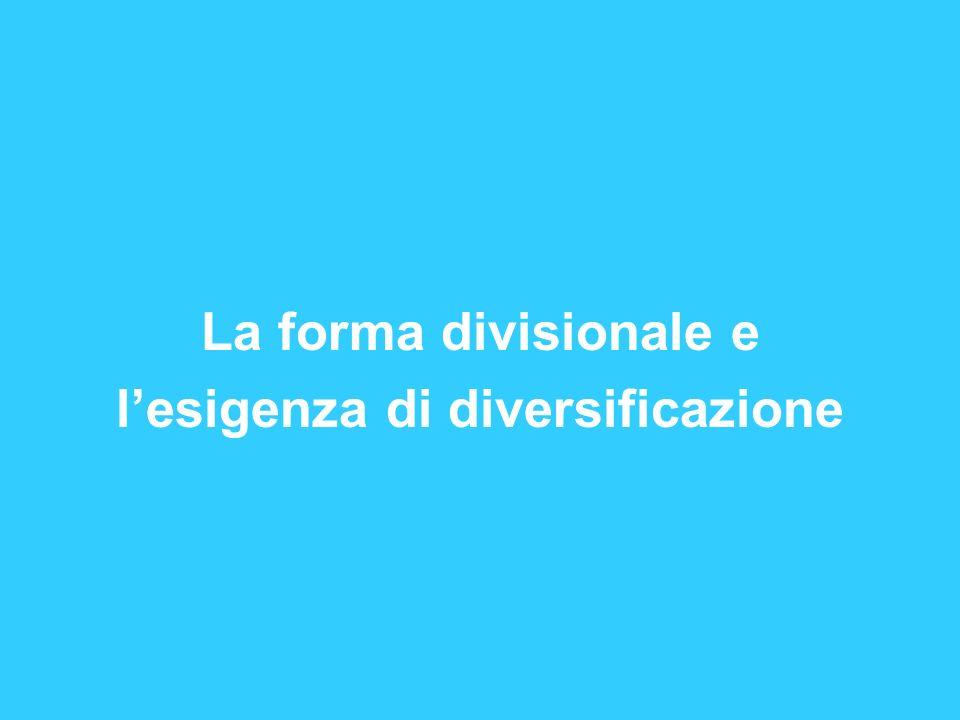 La forma divisionale e lesigenza di diversificazione