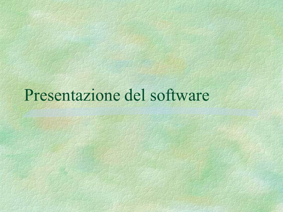Presentazione del software