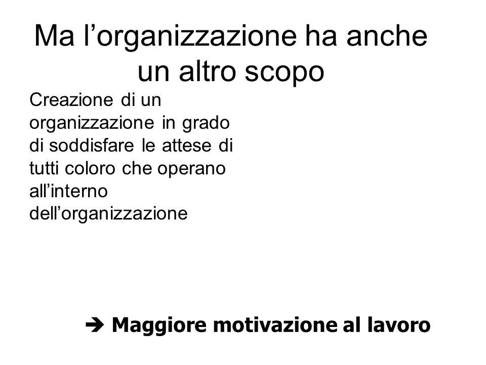 Lo studio dellorganizzazione può essere condotto secondo un duplice profilo: Statico aspetto strutturale di ordinamento dei compiti e responsabilità Dinamico enfasi sul comportamento del sistema organizzativo.