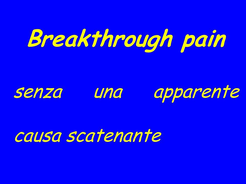 Breakthrough pain senza una apparente causa scatenante