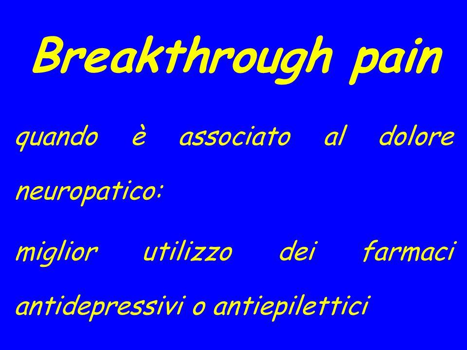 Breakthrough pain quando è associato al dolore neuropatico: miglior utilizzo dei farmaci antidepressivi o antiepilettici