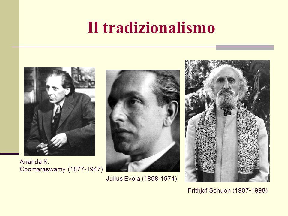 Julius Evola (1898-1974) Frithjof Schuon (1907-1998) Ananda K. Coomaraswamy (1877-1947) Il tradizionalismo