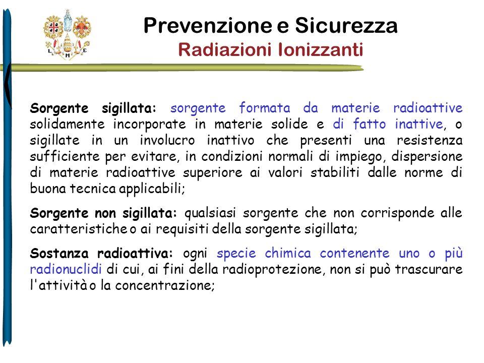 Materia radioattiva: sostanza o insieme di sostanze radioattive contemporaneamente presenti.