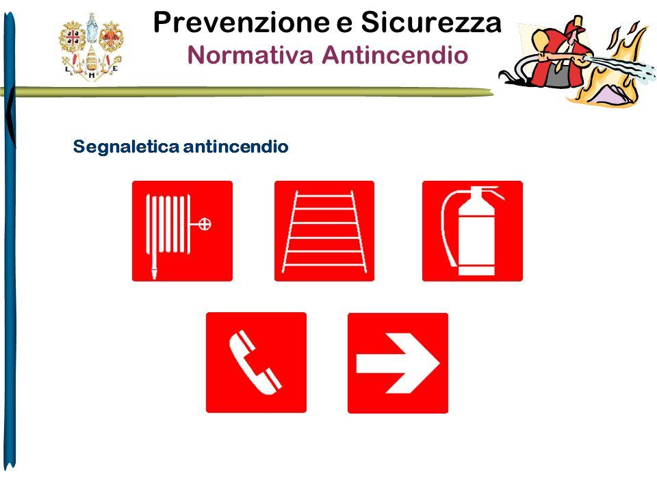 Prevenzione e Sicurezza Normativa Antincendio Segnaletica antincendio