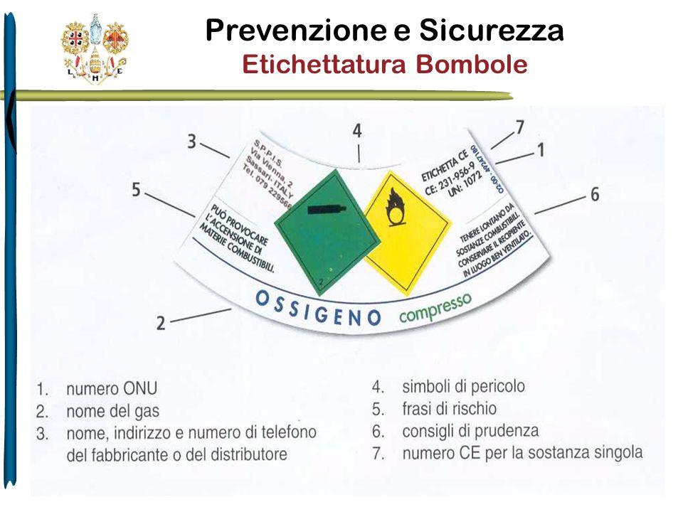 Prevenzione e Sicurezza Etichettatura Bombole