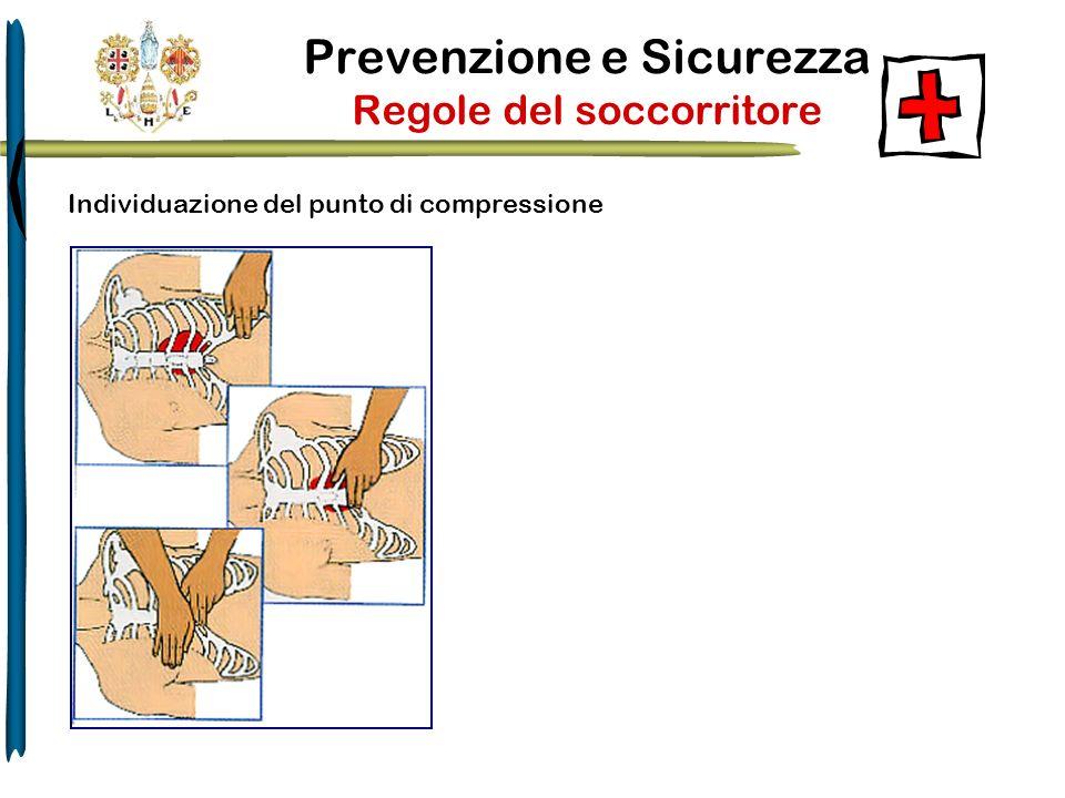 Prevenzione e Sicurezza Regole del soccorritore Individuazione del punto di compressione