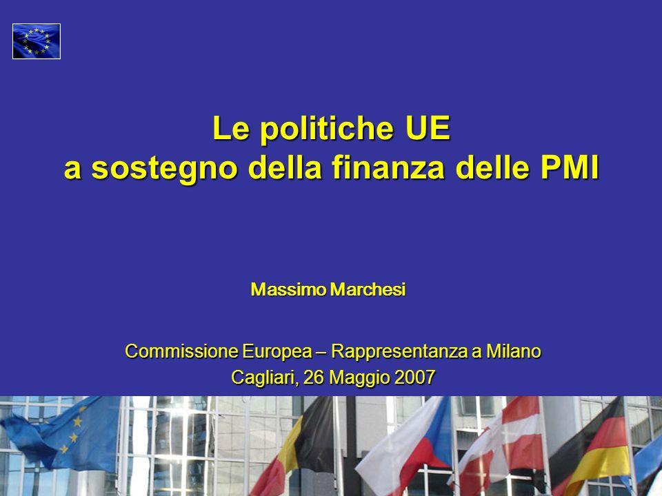 Massimo Marchesi Le politiche UE a sostegno della finanza delle PMI Commissione Europea – Rappresentanza a Milano Cagliari, 26 Maggio 2007