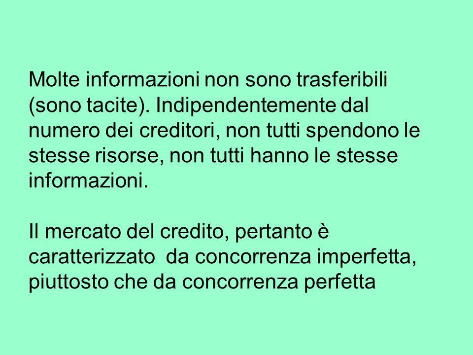 Molte informazioni non sono trasferibili (sono tacite).