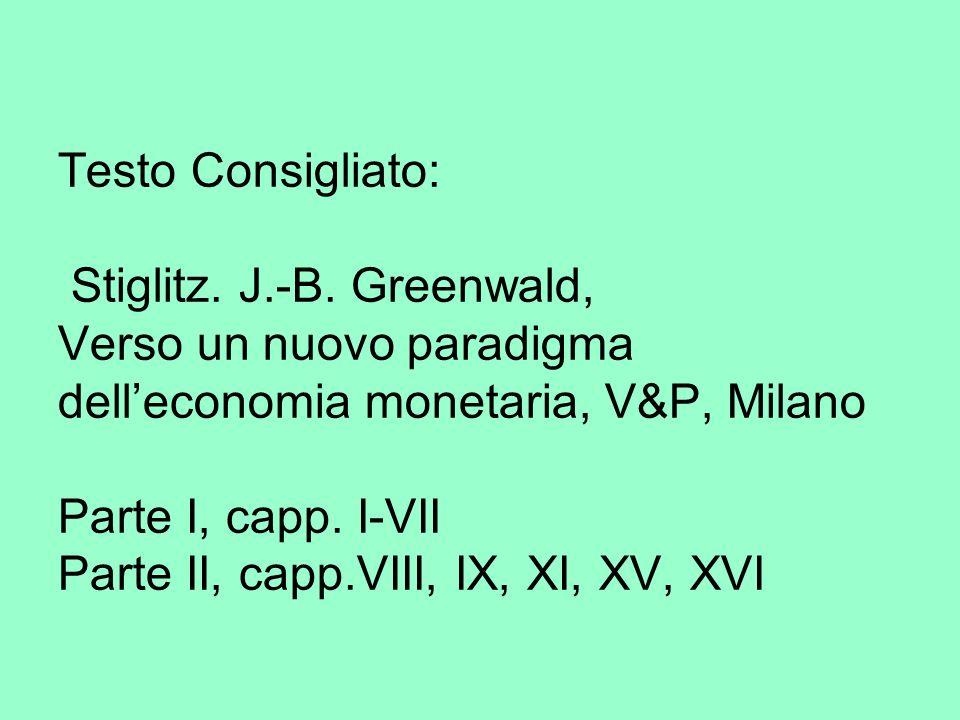 Testo Consigliato: Stiglitz. J.-B.