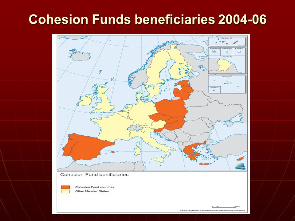 Cohesion Funds beneficiaries 2004-06