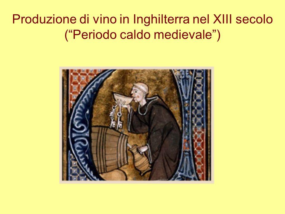 Produzione di vino in Inghilterra nel XIII secolo (Periodo caldo medievale)