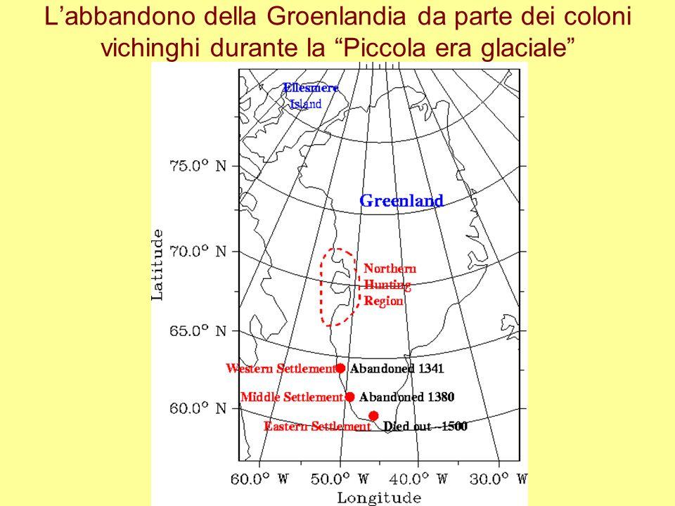 Labbandono della Groenlandia da parte dei coloni vichinghi durante la Piccola era glaciale