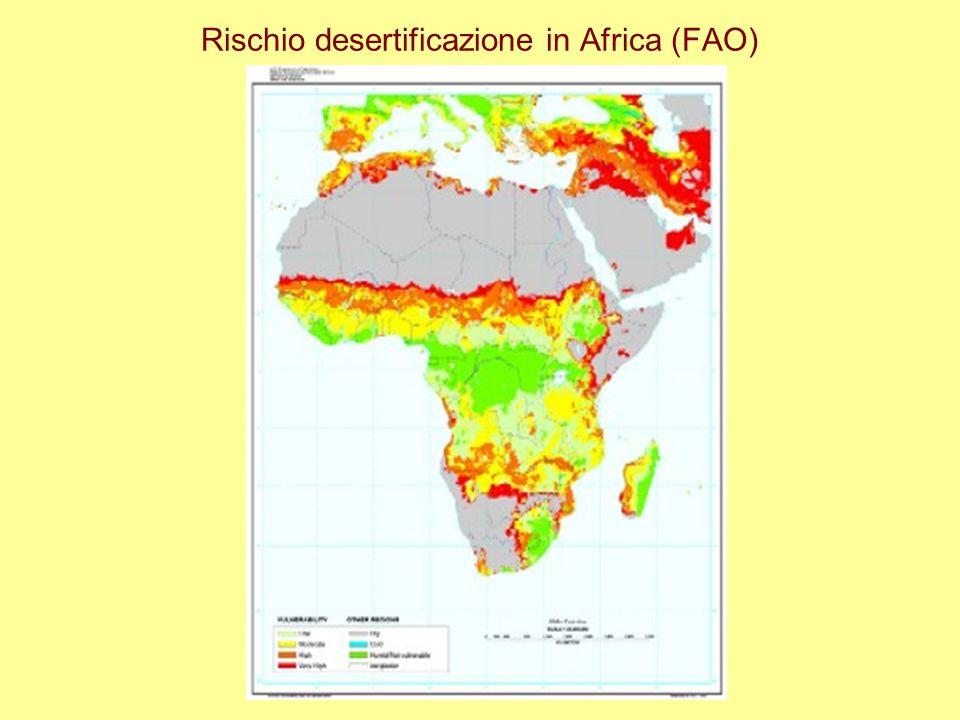 Rischio desertificazione in Africa (FAO)
