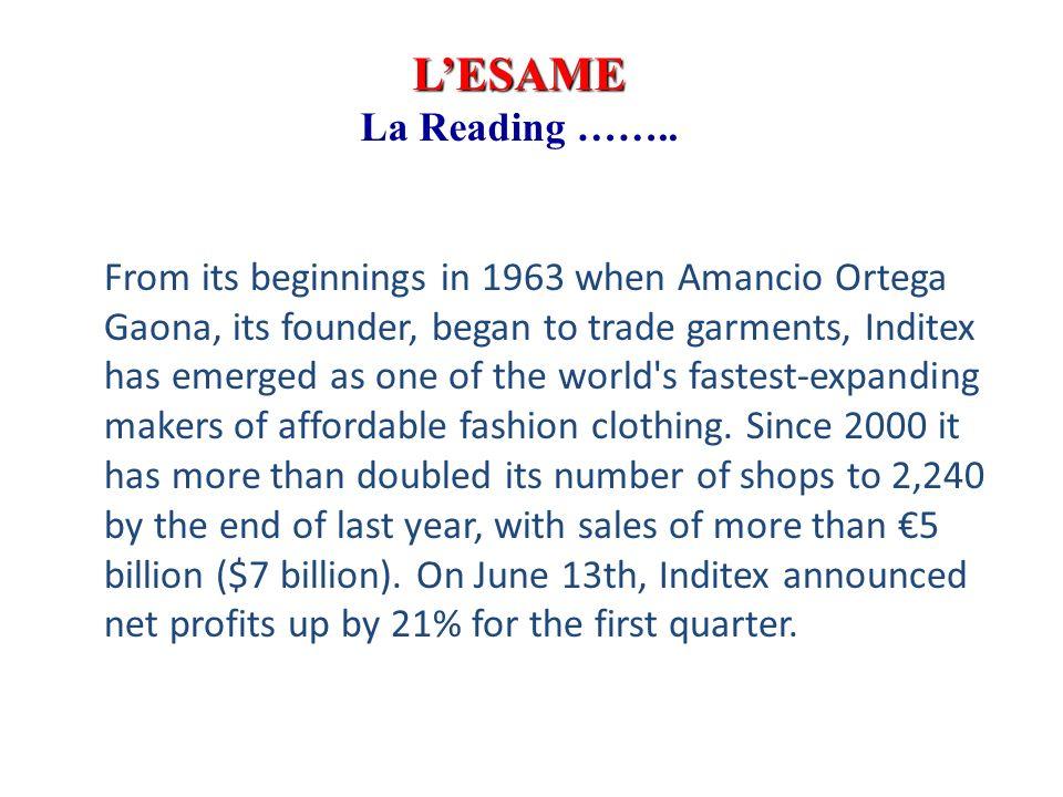 LESAME La Reading ……..