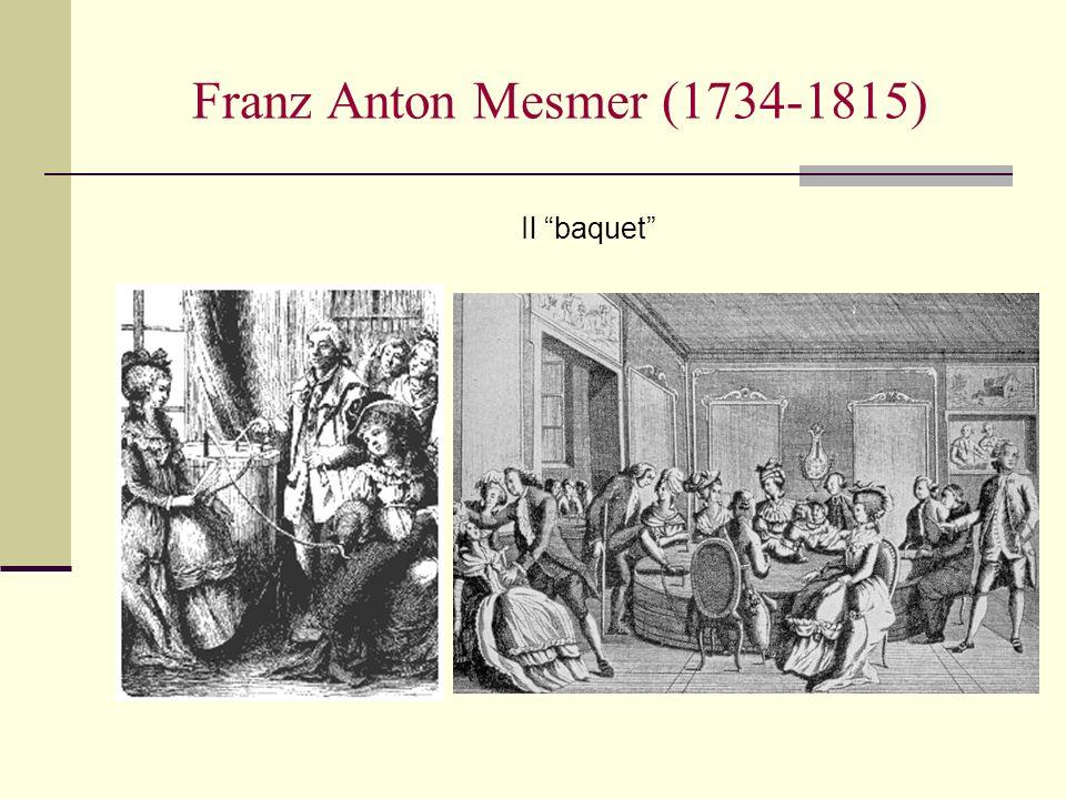 Franz Anton Mesmer (1734-1815) Il baquet