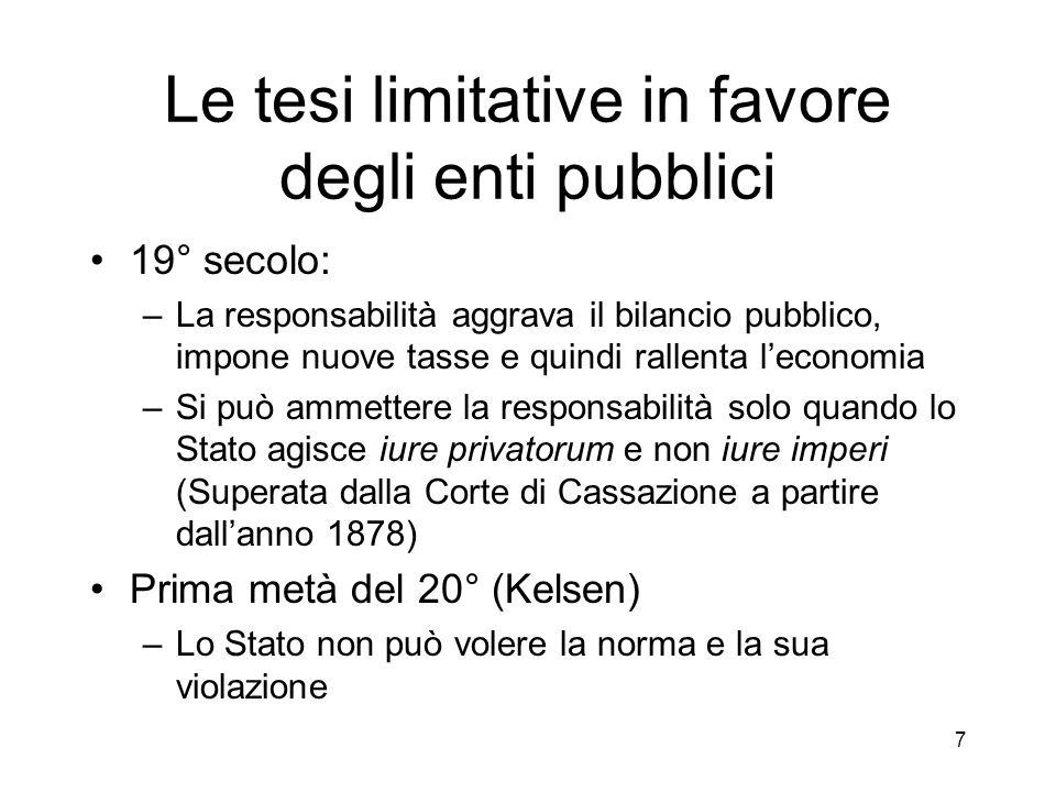 8 La fattispecie degli interessi legittimi oppositivi Ante Cass.