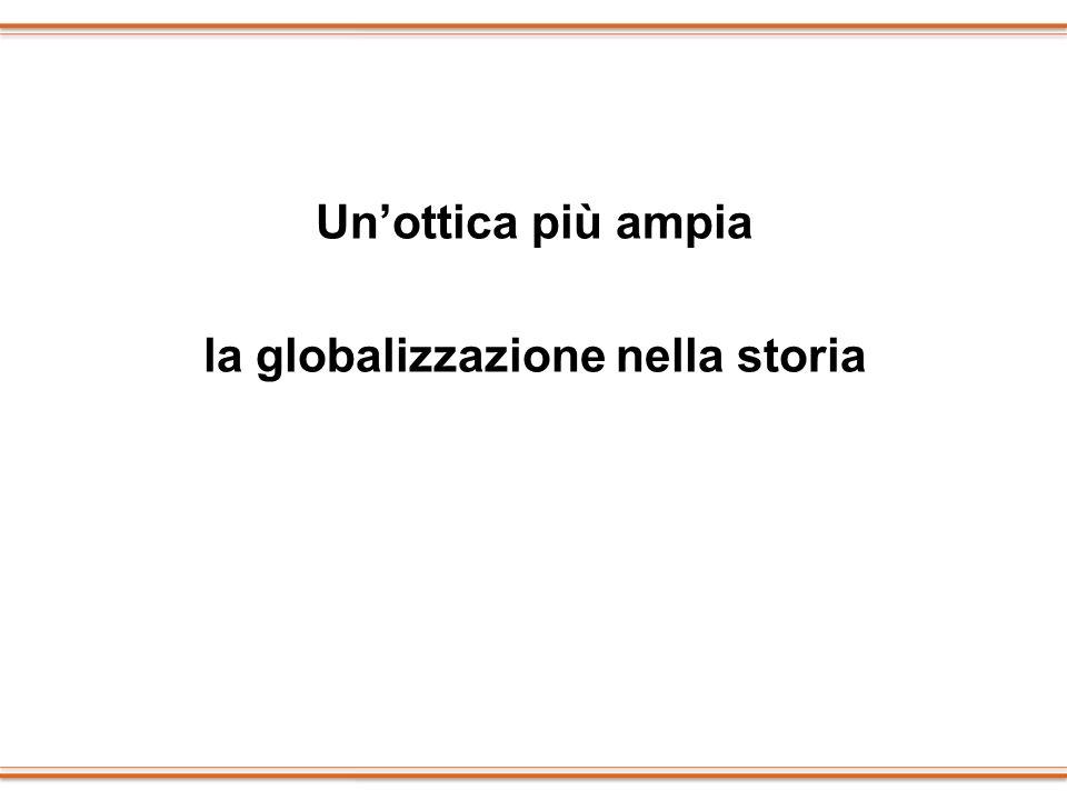 Unottica più ampia la globalizzazione nella storia