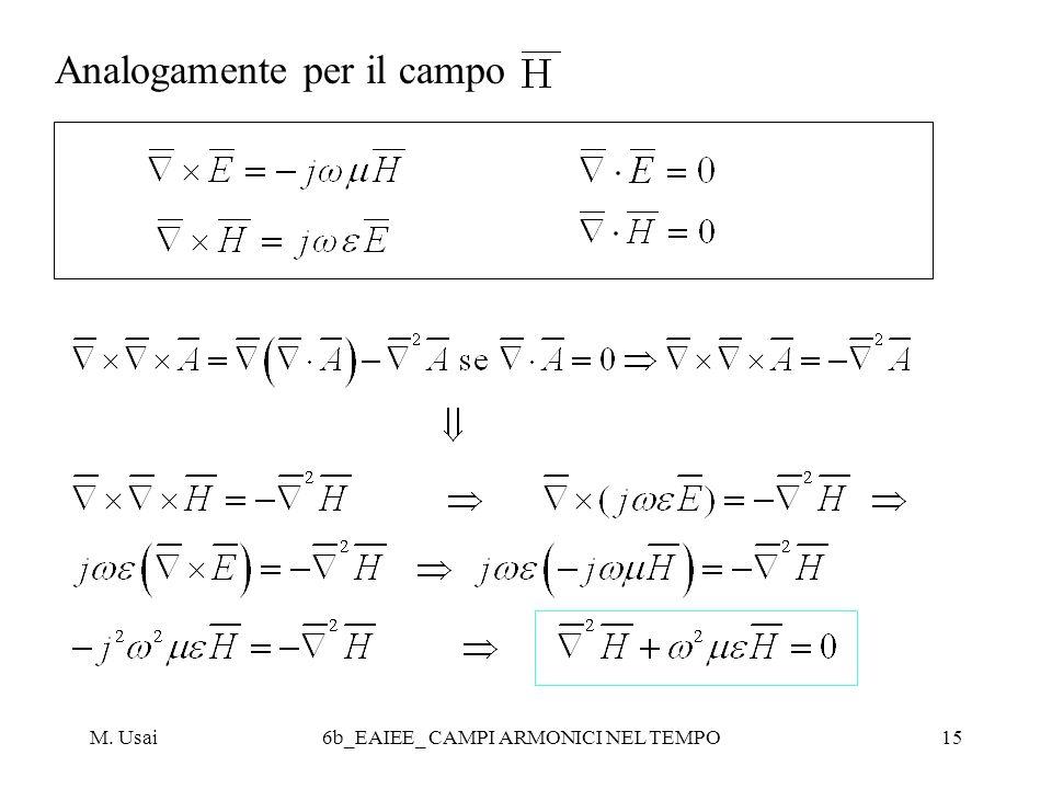 M. Usai6b_EAIEE_ CAMPI ARMONICI NEL TEMPO15 Analogamente per il campo