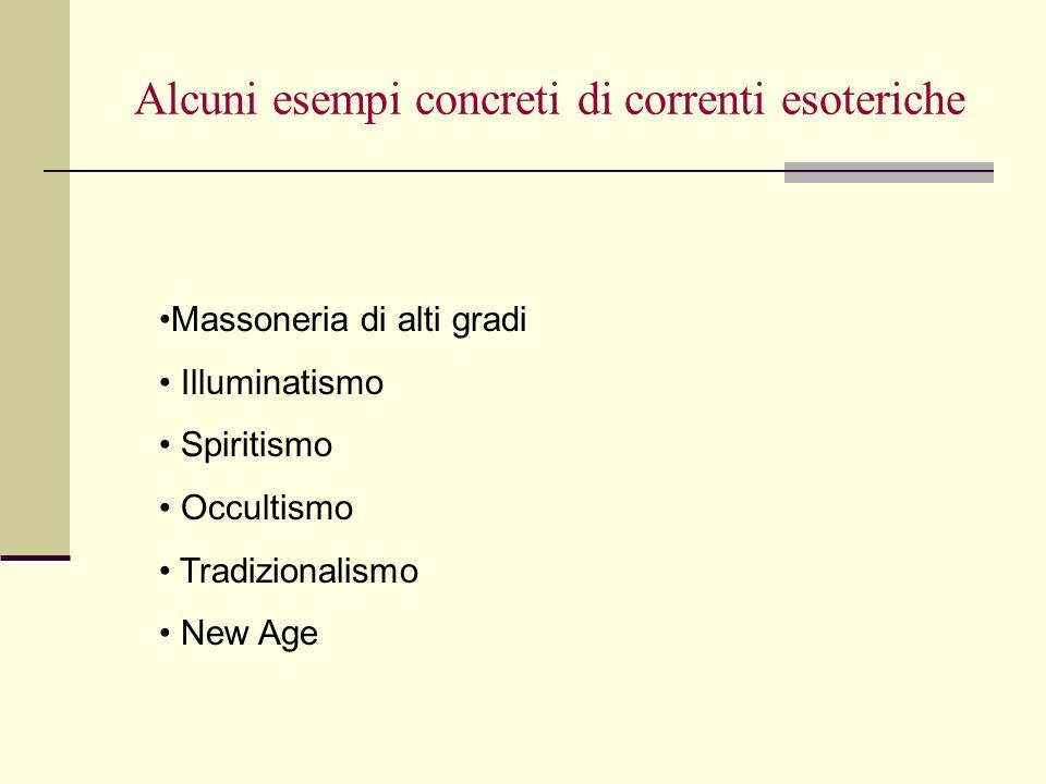 Una distinzione importante Studio di argomenti che possono essere ricondotti a una dimensione esoterica, ma che vengono studiati in una prospettiva che non è specificamente esoterica.