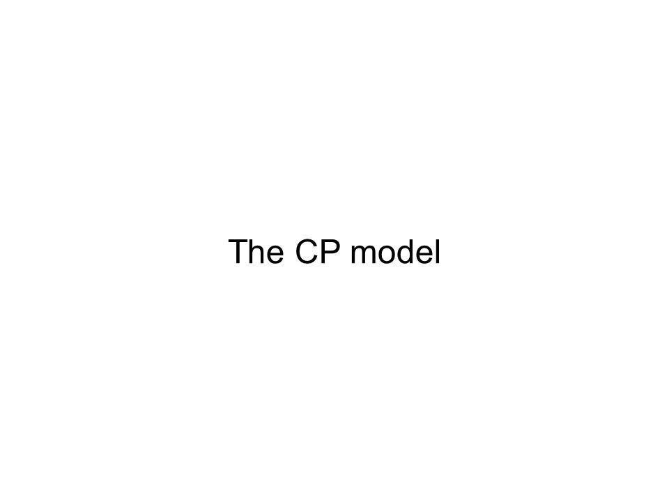 The CP model