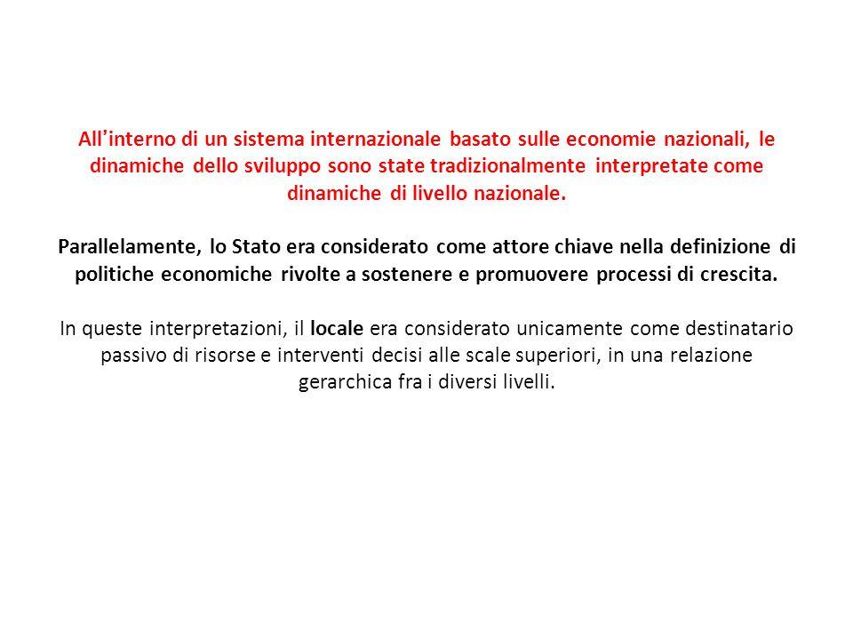 Governance territoriale (2) Nel luglio del 2001, lUnione Europea ha promulgato il Libro bianco sulla governance europea in cui sono definiti i principi generali relativi alluso del termine e alle possibilità di applicazioni di tale modello di azione in ambito comunitario.