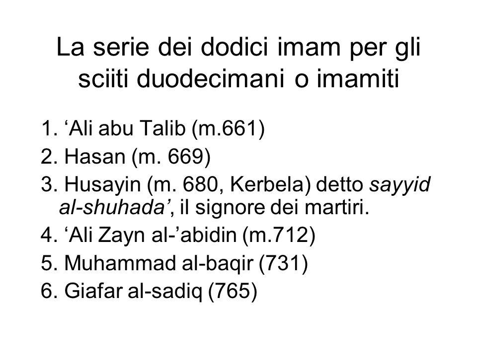 7.Musa al-kazim (m. 799) Ali al-rida (m. 818) Muhammad al-taqi (m.