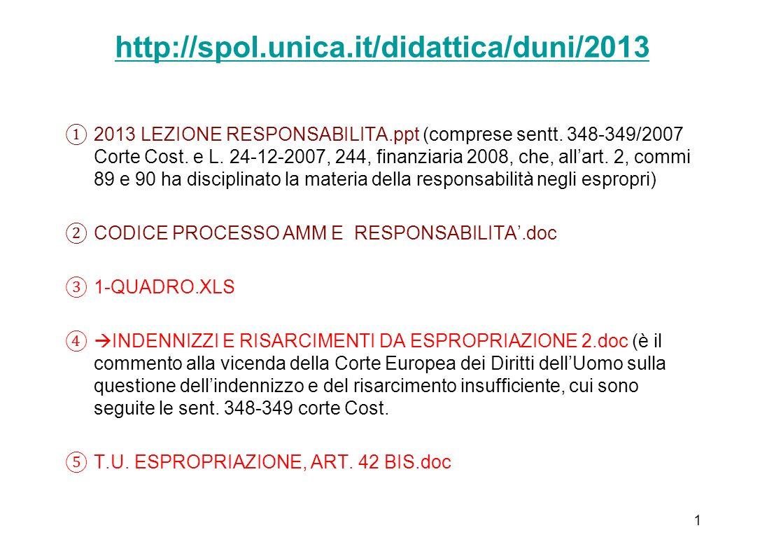 http://spol.unica.it/didattica/duni/2013 2013 LEZIONE RESPONSABILITA.ppt (comprese sentt.