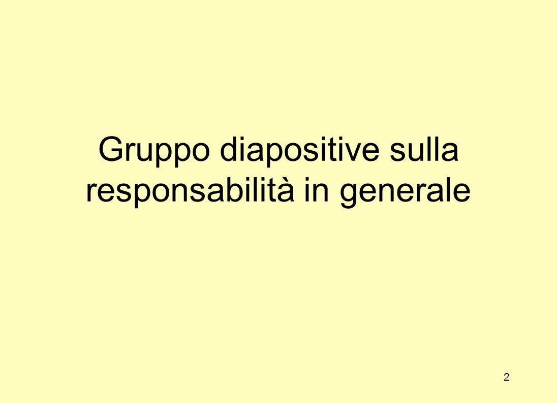 Gruppo diapositive sulla responsabilità in generale 2