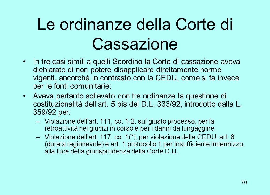 69 Lappello alla Grande sezione In conformità allart. 43 della convenzione, lItalia propose appello alla Grande Sezione (composta da 17 giudici in luo