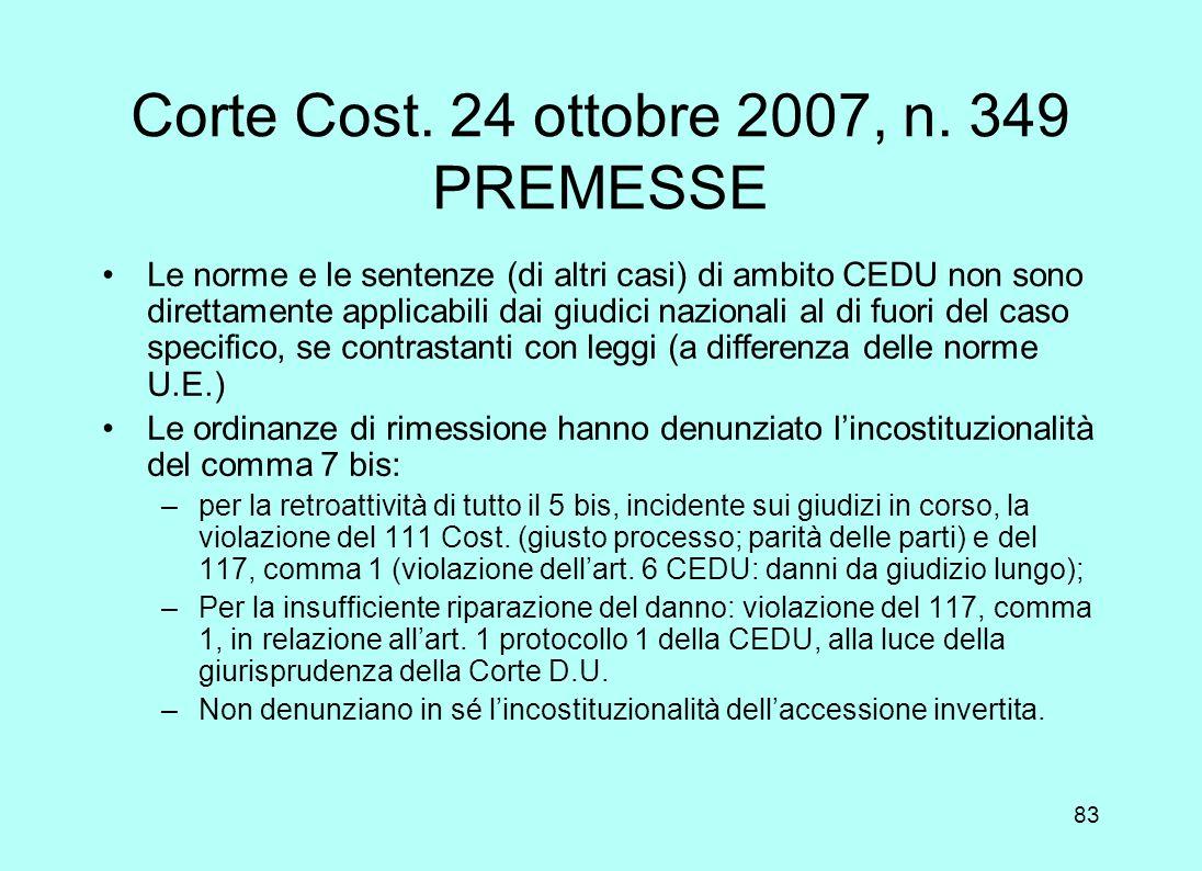 82 La pesante condanna dellItalia «La fattispecie in esame non può essere messa sullo stesso piano di una espropriazione regolare, essendo stato viola