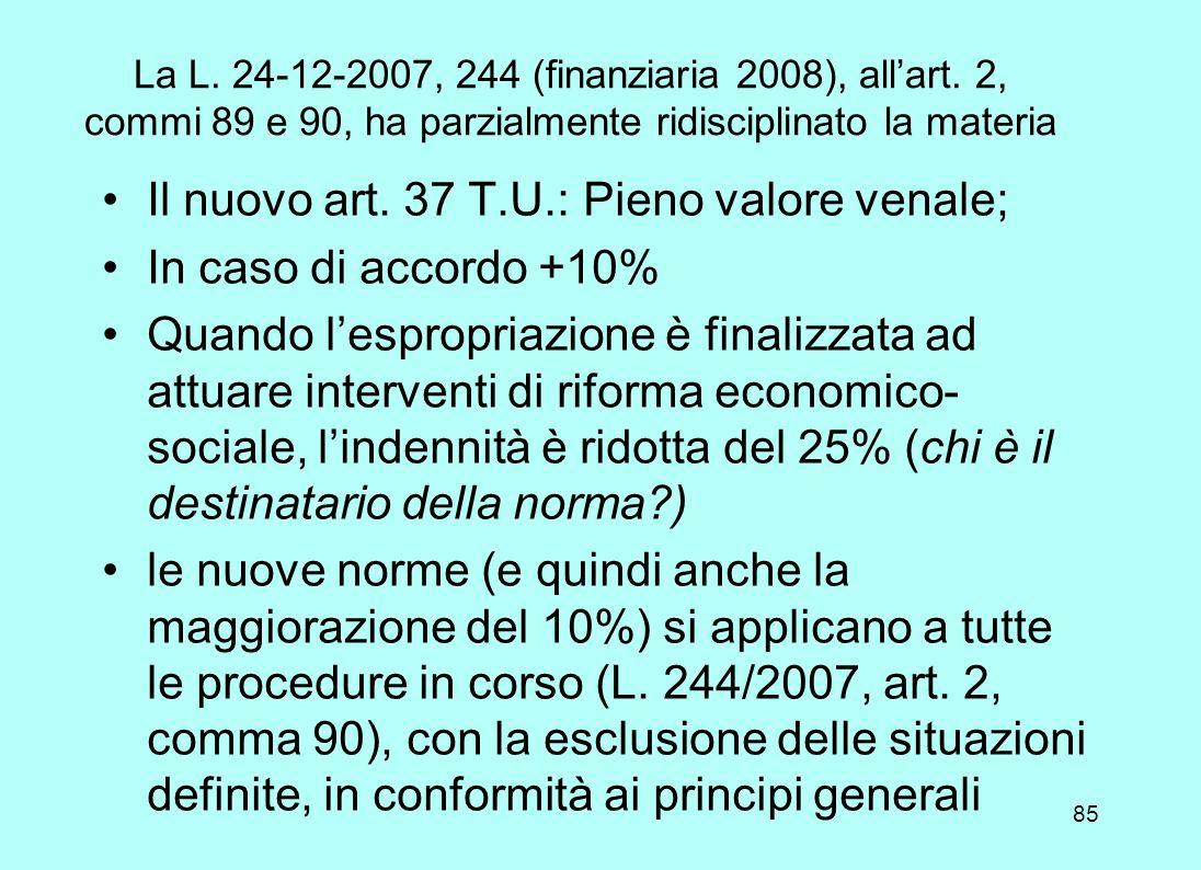 84 Corte Cost. 24 ottobre 2007, n. 349 «Solo dopo la riforma della Costituzione del 2001 è possibile valutare la violazione di norme internazionali pa